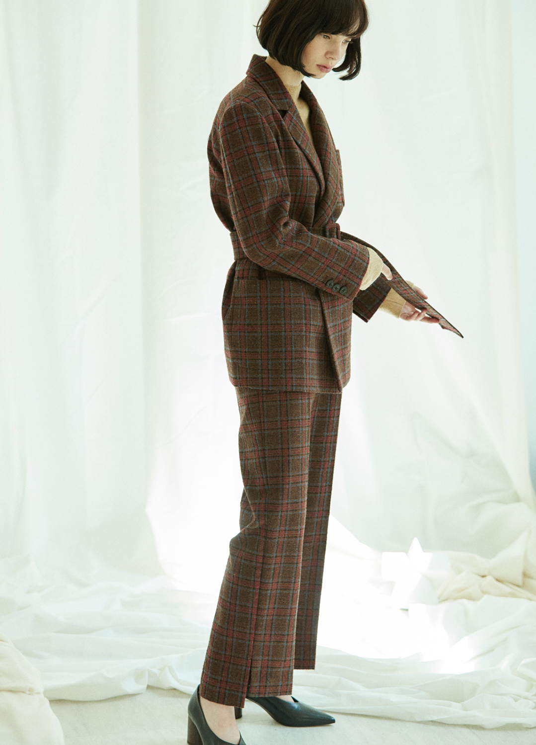 unbalance wide pants Brown 30%