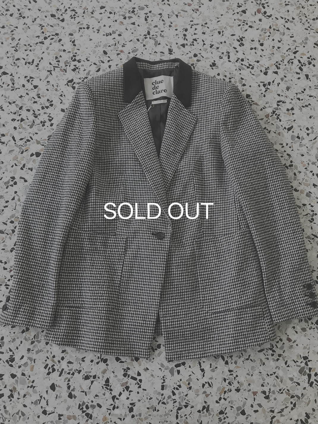 [SAMPLE] hound tooth check Jacket 80%