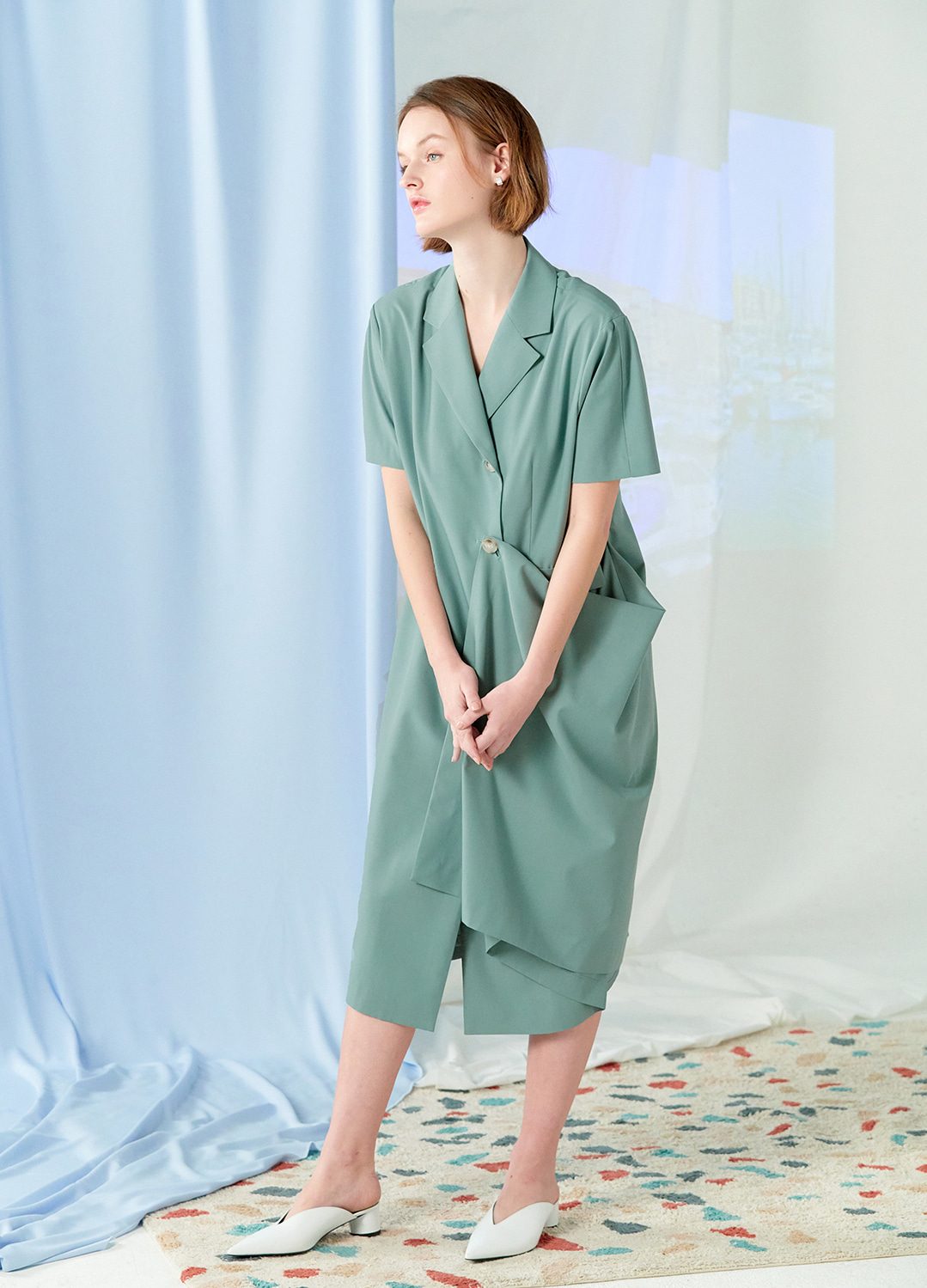 flare two way dress Green 30%