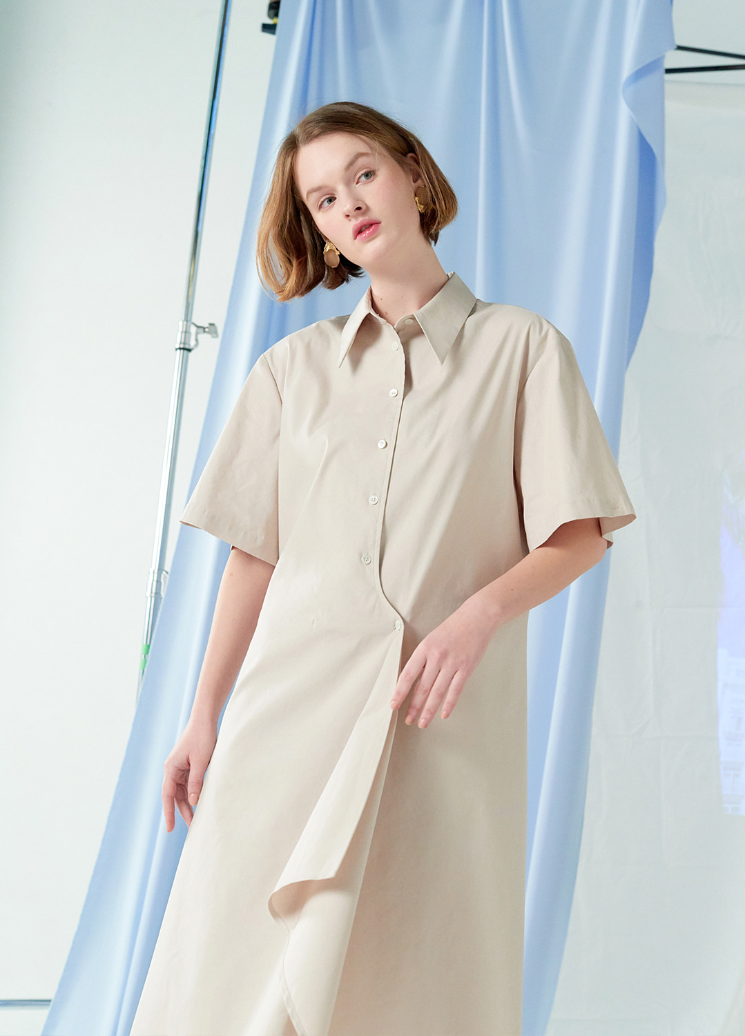 flare shirt dress Beige 20%