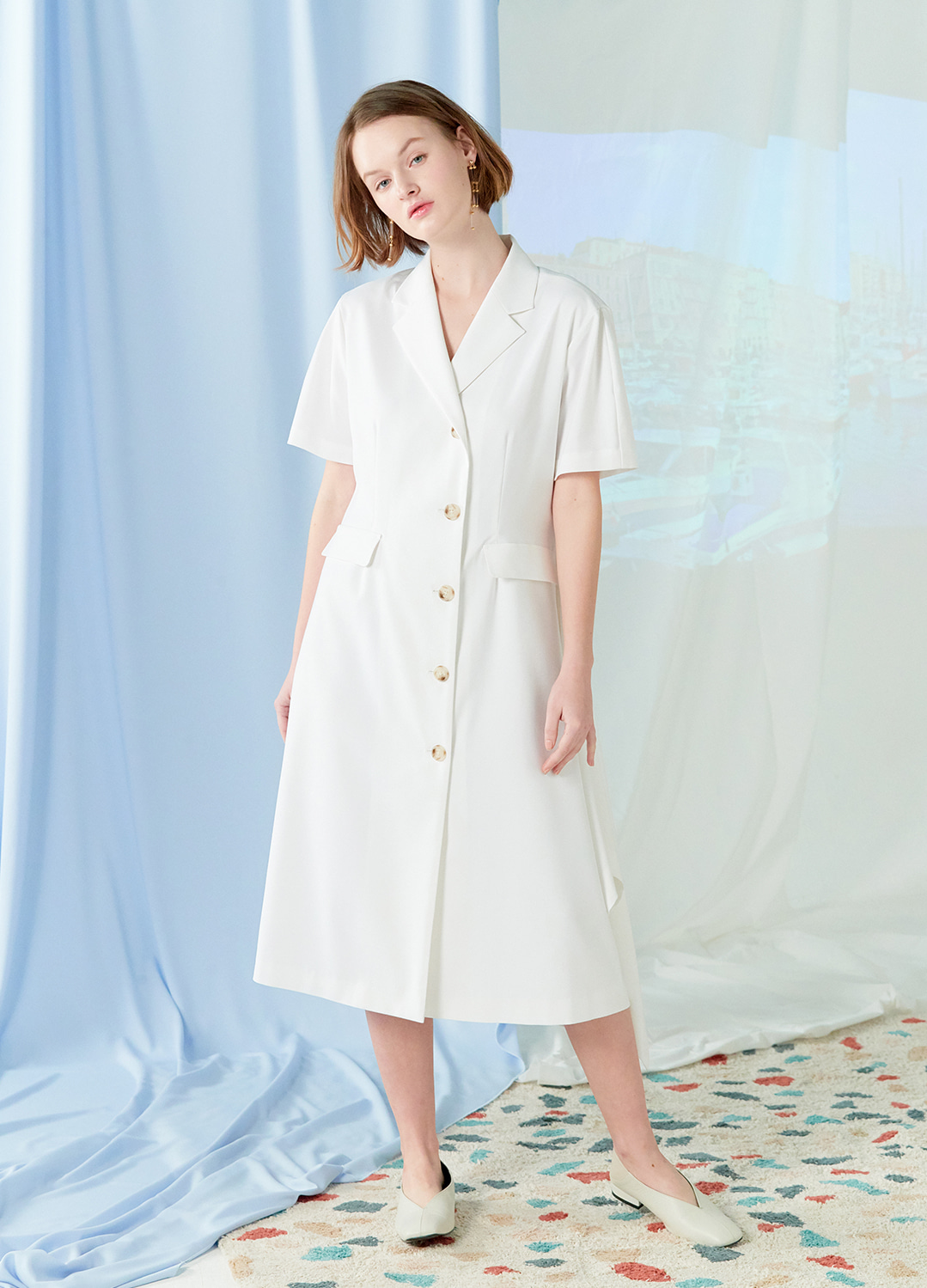 flare two way dress White 30%