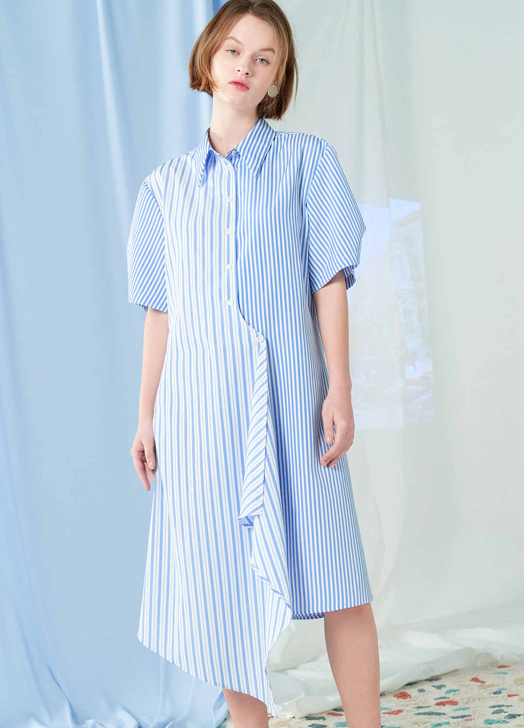 flare shirt dress Blue 30%