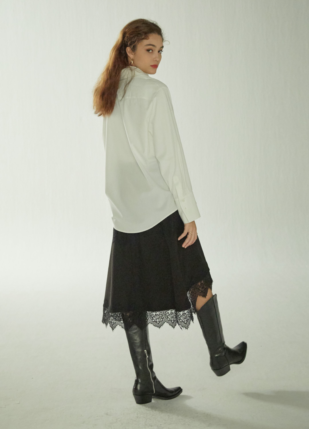lace wrap skirt Black
