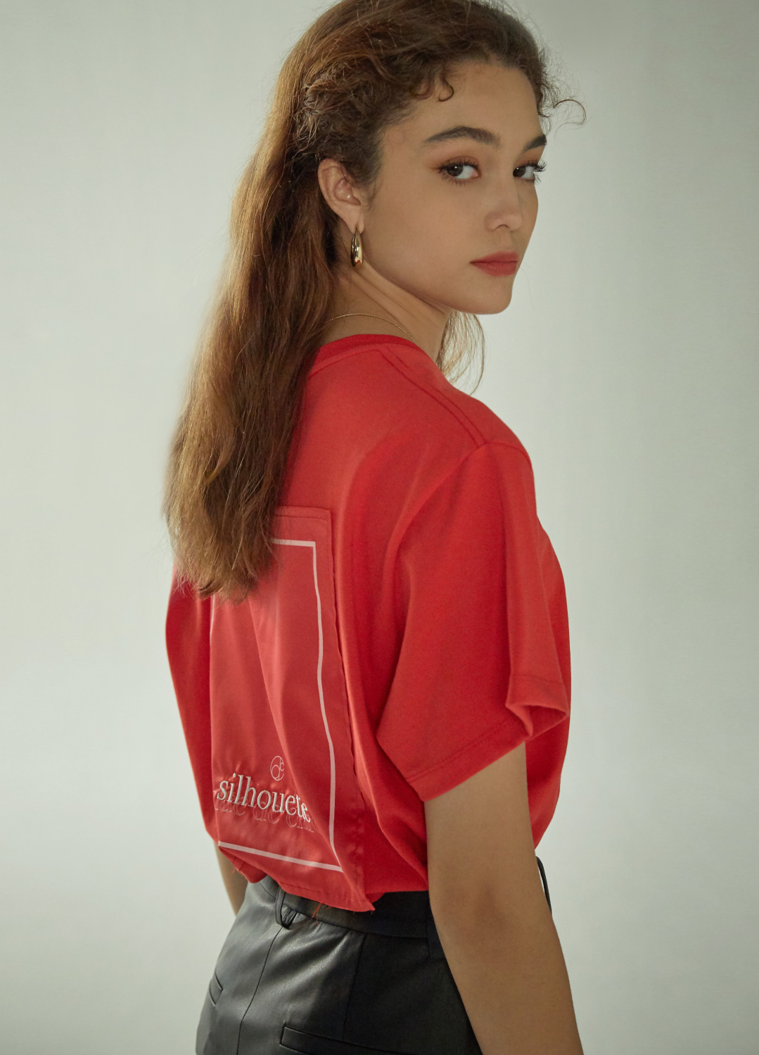 silhouette t-shirt Red