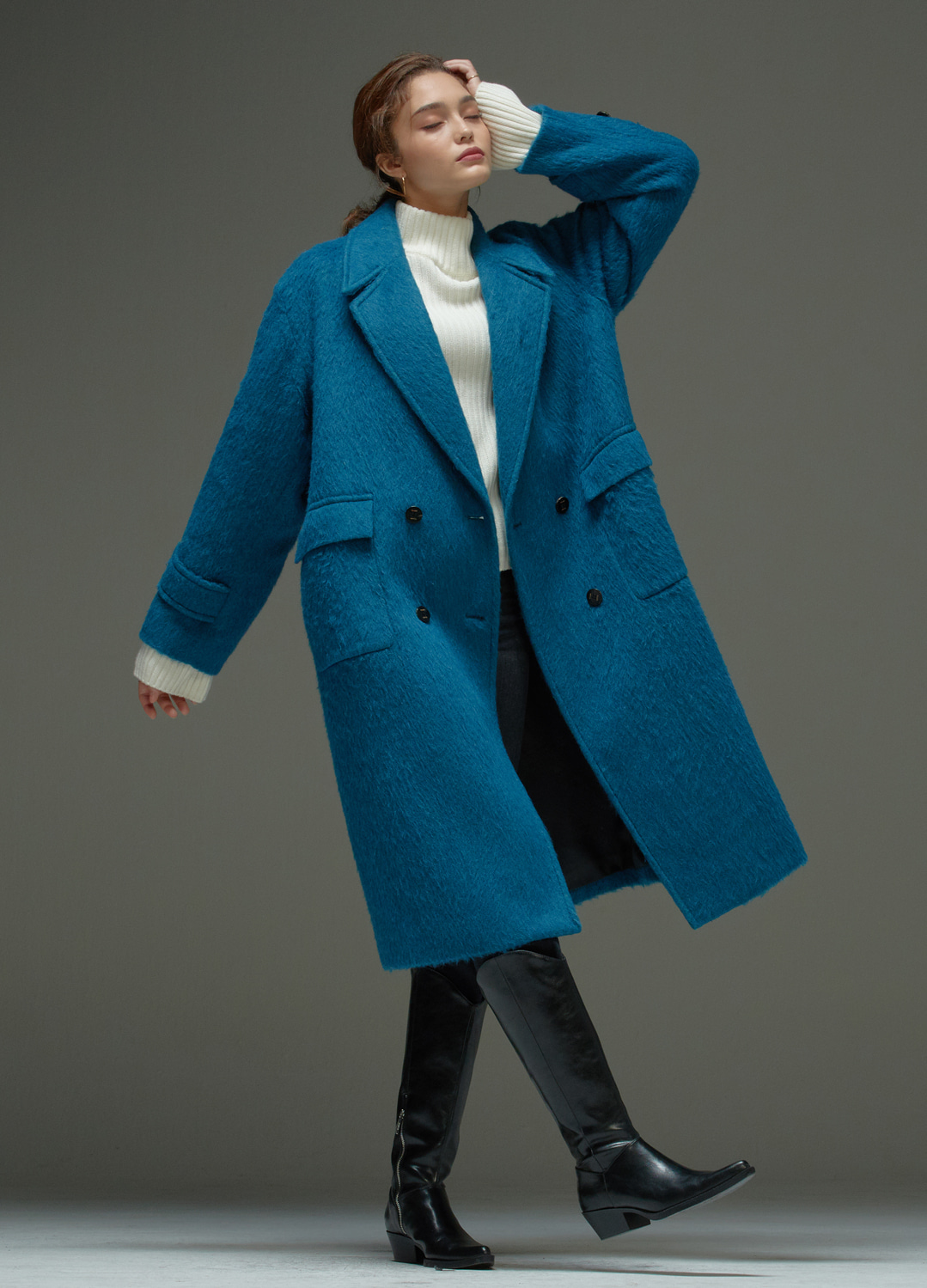 tailored coat Blue